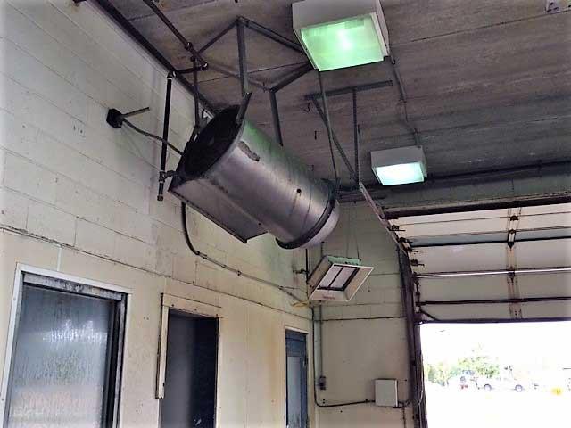 جت هیتر برقی صنعتی مخصوص نصب بالای درب