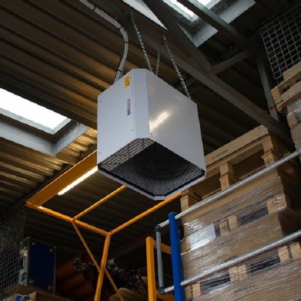 گرمایش انباری با فن هیتر سقفی
