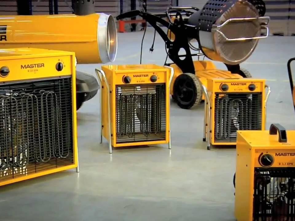 بخاری فن دار صنعتی برقی